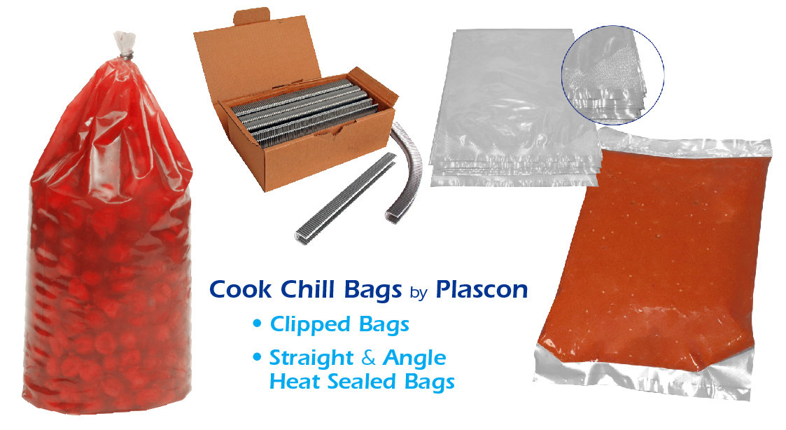 Cook Chill Clipped and Heat Sealed Bags