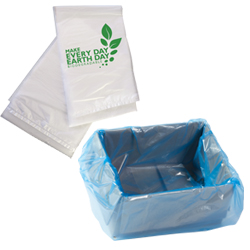 Plascon biodegradable and box liner