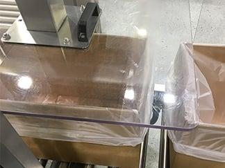 box inserter machine  - view from above