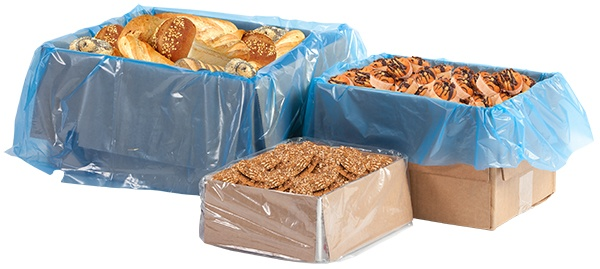 boxes lined with bakery items