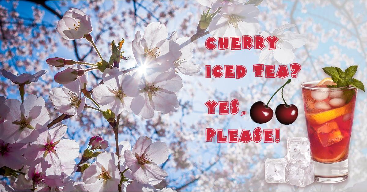 cherry iced tea recipe for National Iced Tea Month