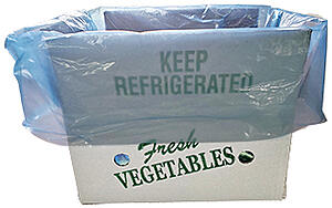 fresh vegetables box and liner