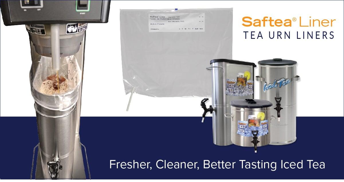 Saftea Liner provides fresher cleaner better iced tea