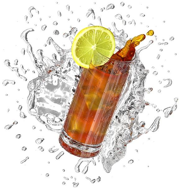iced tea splash