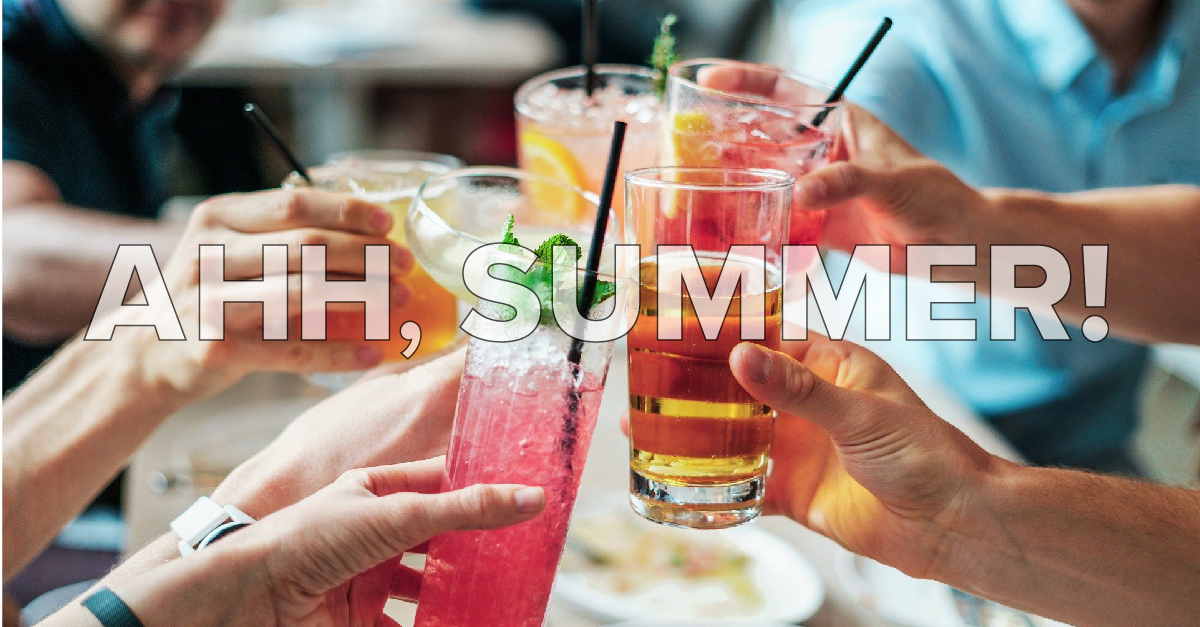 summer iced tea drinks