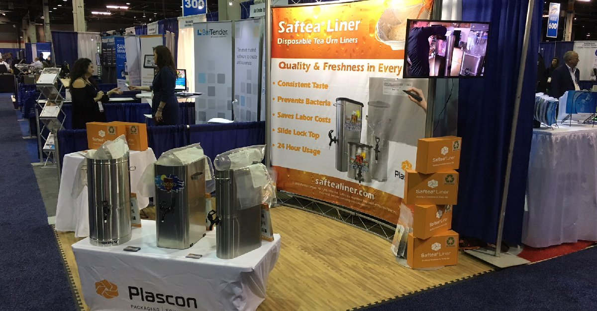 Saftea Liner on display at a trade show
