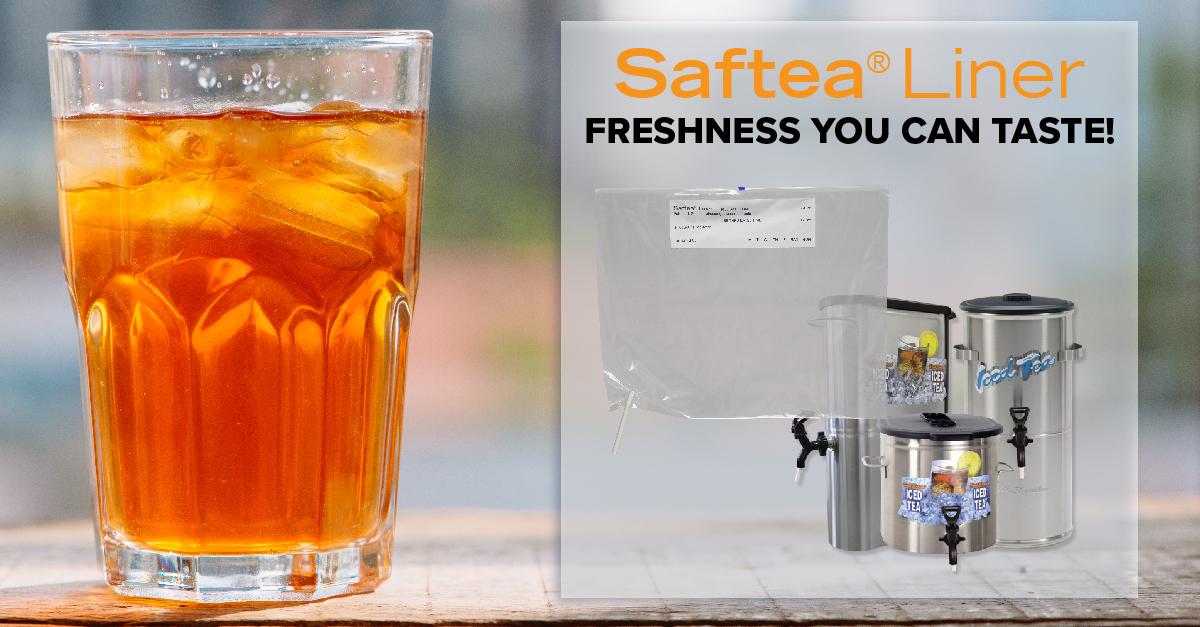 saftea liner provides freshness you can taste
